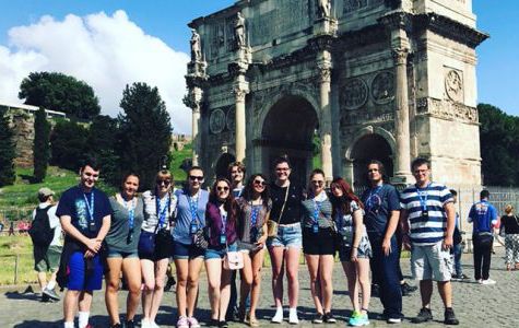 The group of BAHS students who traveled to Italy in the summer of 2018.